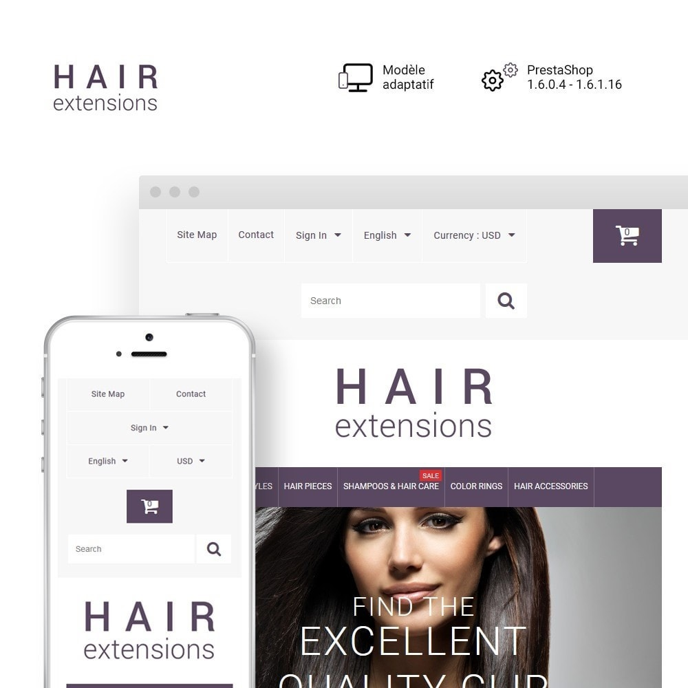 theme - Mode & Chaussures - Hair Extensions - 1