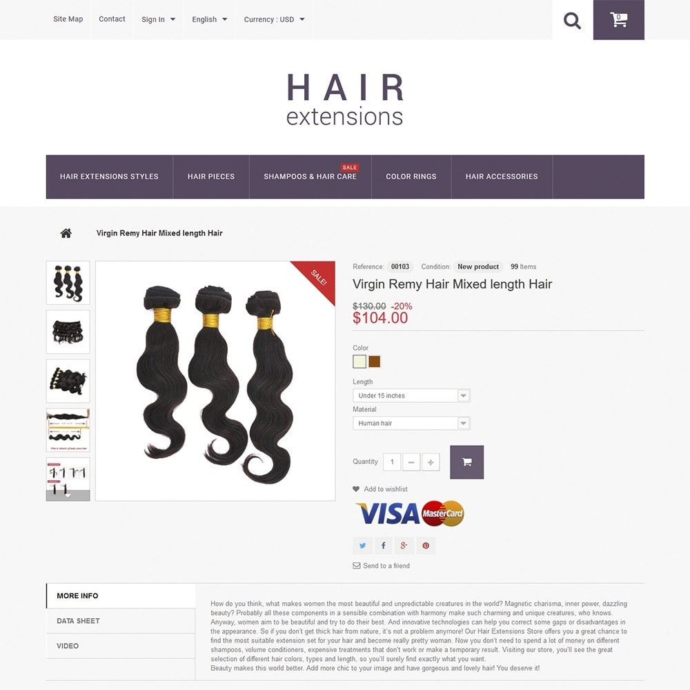 theme - Moda y Calzado - Hair Extensions - 3