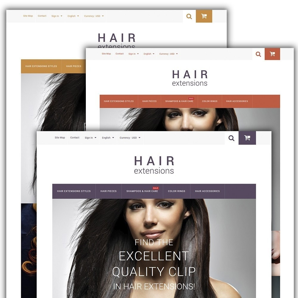 theme - Moda & Calzature - Hair Extensions - 2