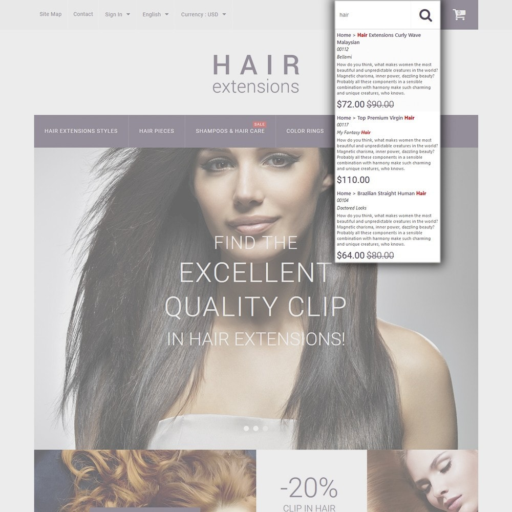 theme - Moda & Calzature - Hair Extensions - 6