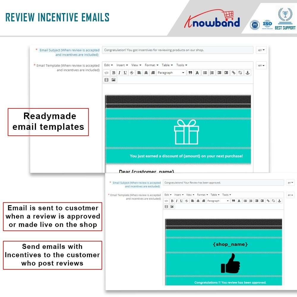 module - Comentarios de clientes - Knowband - Product Review Reminder and Incentives - 7