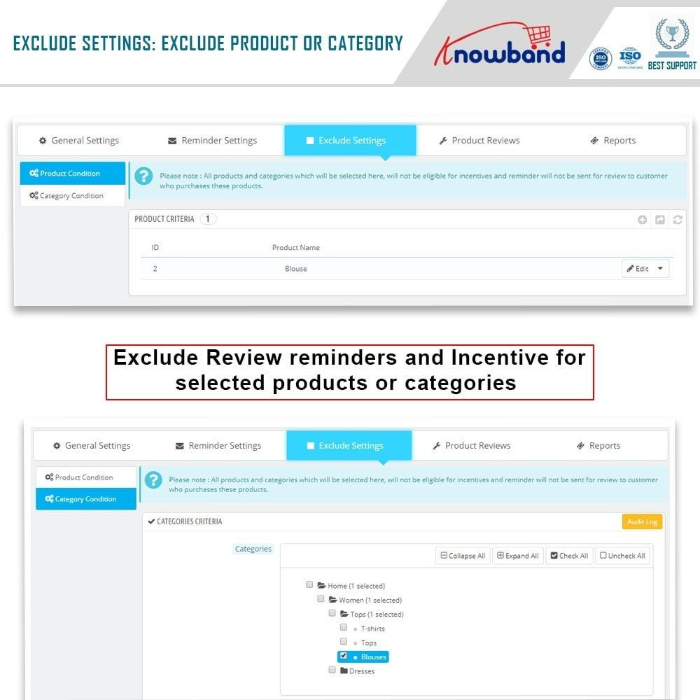 module - Comentarios de clientes - Knowband - Product Review Reminder and Incentives - 9