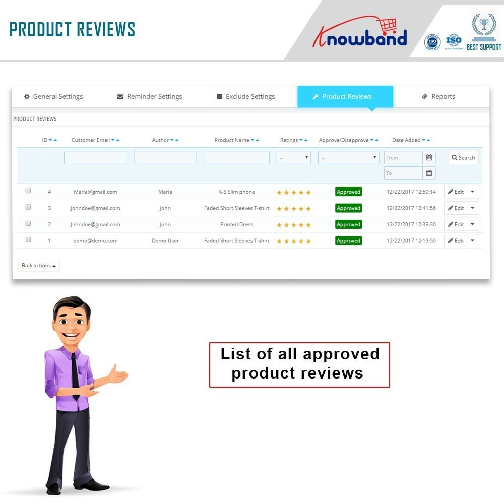 module - Comentarios de clientes - Knowband - Product Review Reminder and Incentives - 10