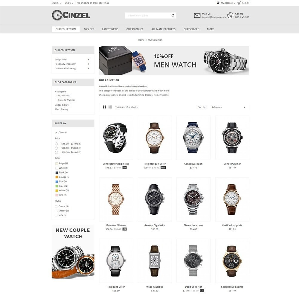 theme - Elettronica & High Tech - Cinzel Watch Store - 3