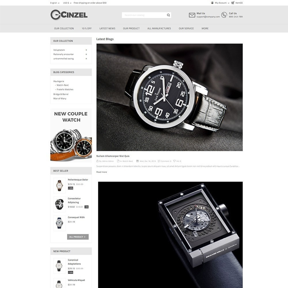 theme - Electrónica e High Tech - Cinzel Watch Store - 6