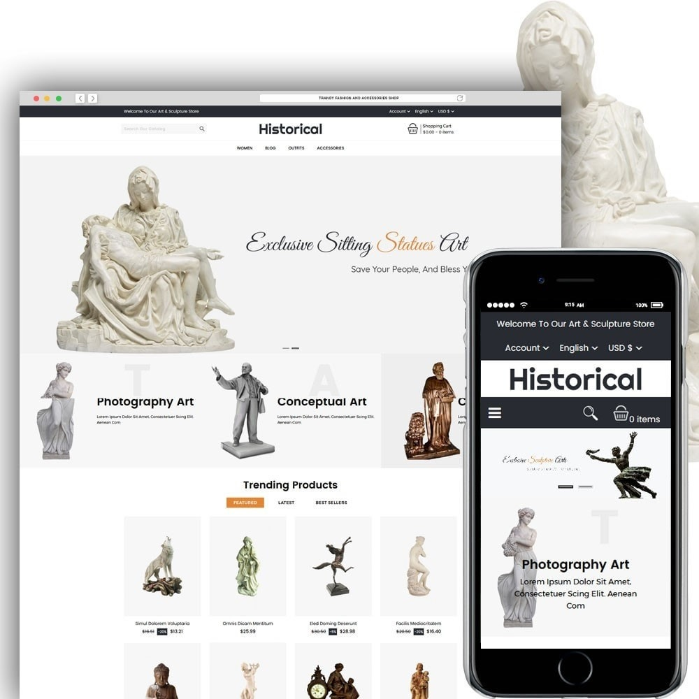 theme - Art & Culture - Historical Sculpture Store - 1