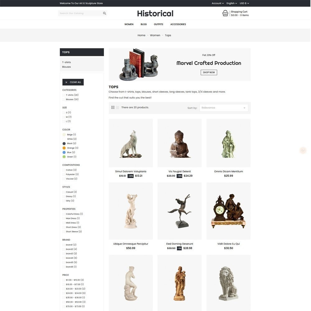 theme - Art & Culture - Historical Sculpture Store - 4