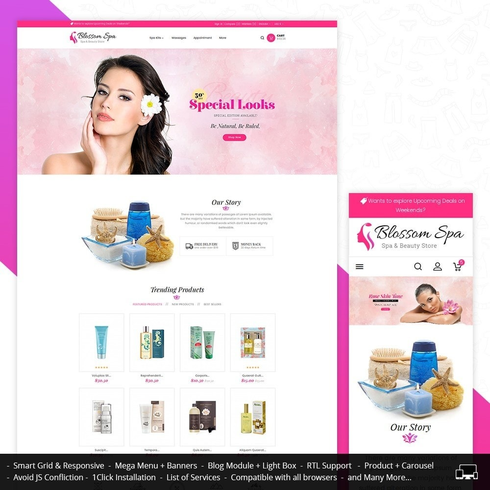 theme - Salute & Bellezza - Blossom Spa - 1