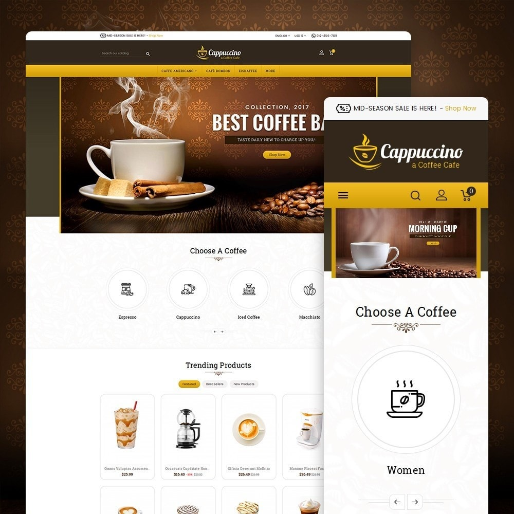 theme - Drink & Tobacco - Coffee Cappuccino - 1
