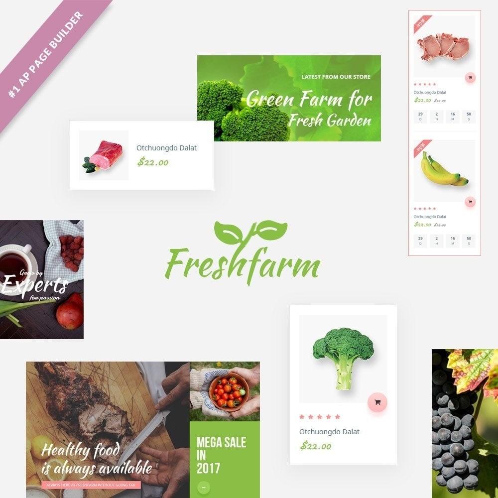 theme - Alimentation & Restauration - Leo Fresh Farm - 1