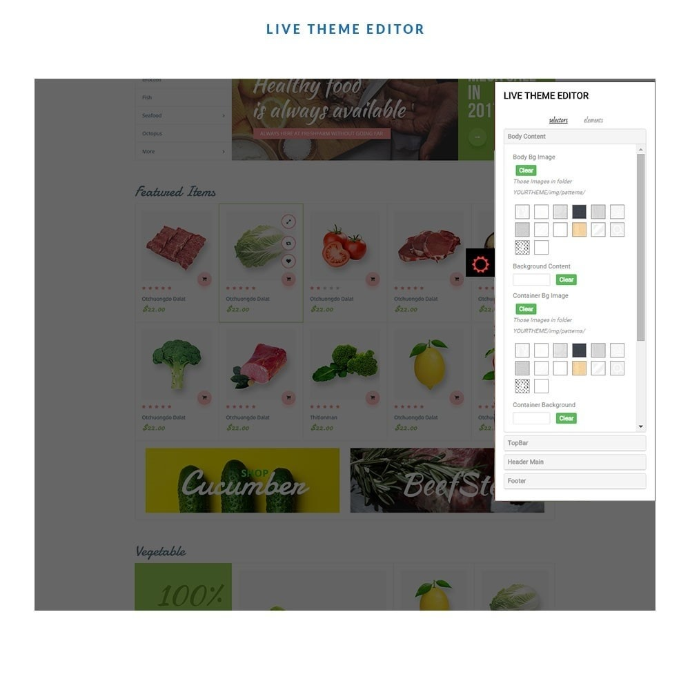 theme - Alimentation & Restauration - Leo Fresh Farm - 4