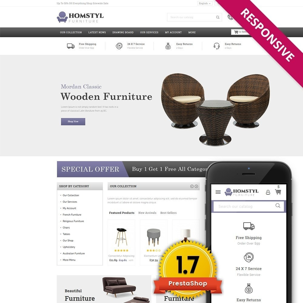 theme - Home & Garden - Homstyl Furniture Store - 1