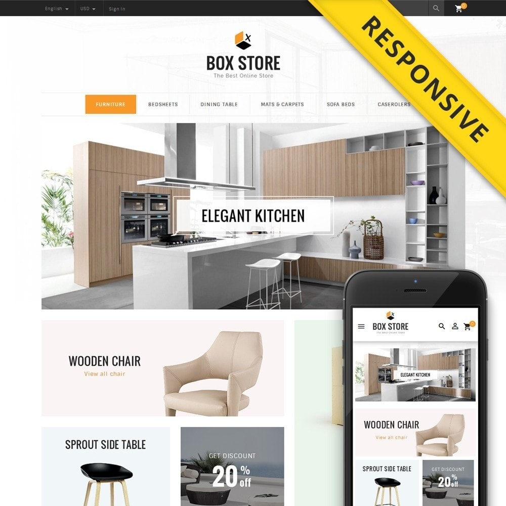 theme - Casa & Jardins - BoxStore - Furniture Store - 1