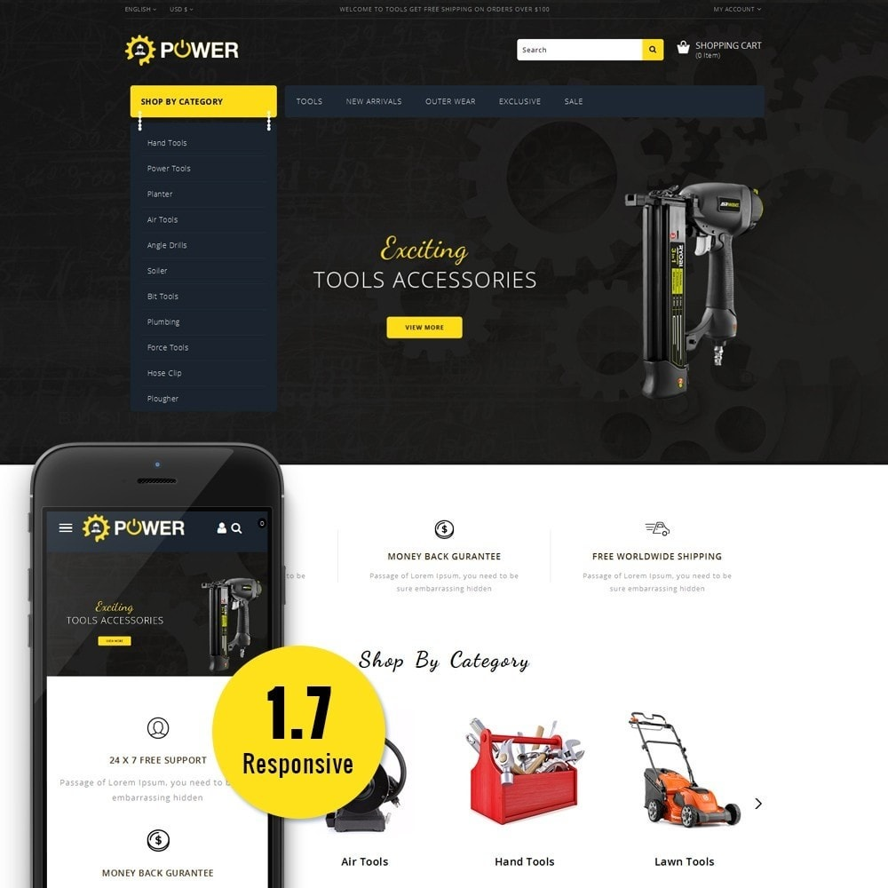 theme - Elettronica & High Tech - PowerTools Store - 1