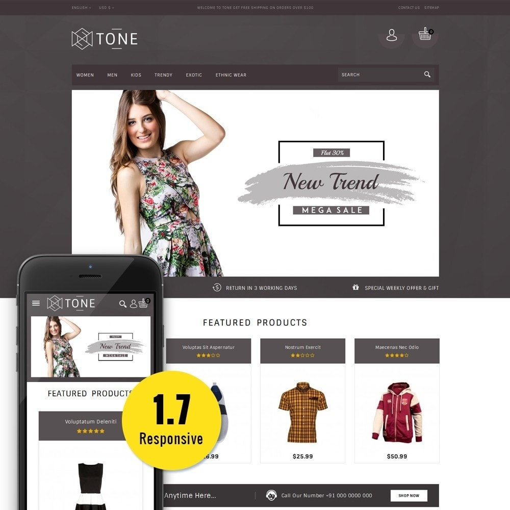 theme - Mode & Schuhe - Tone Fashion Store - 1
