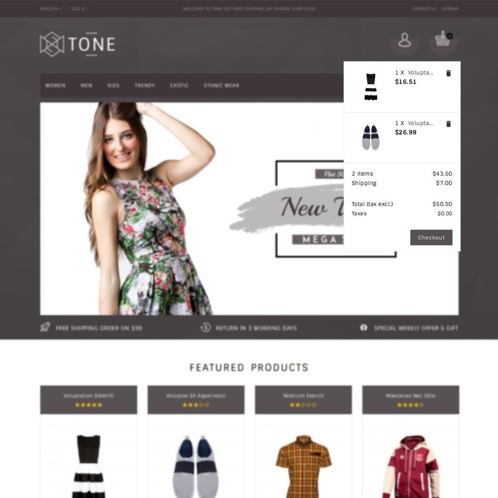 theme - Mode & Chaussures - Tone Fashion Store - 8