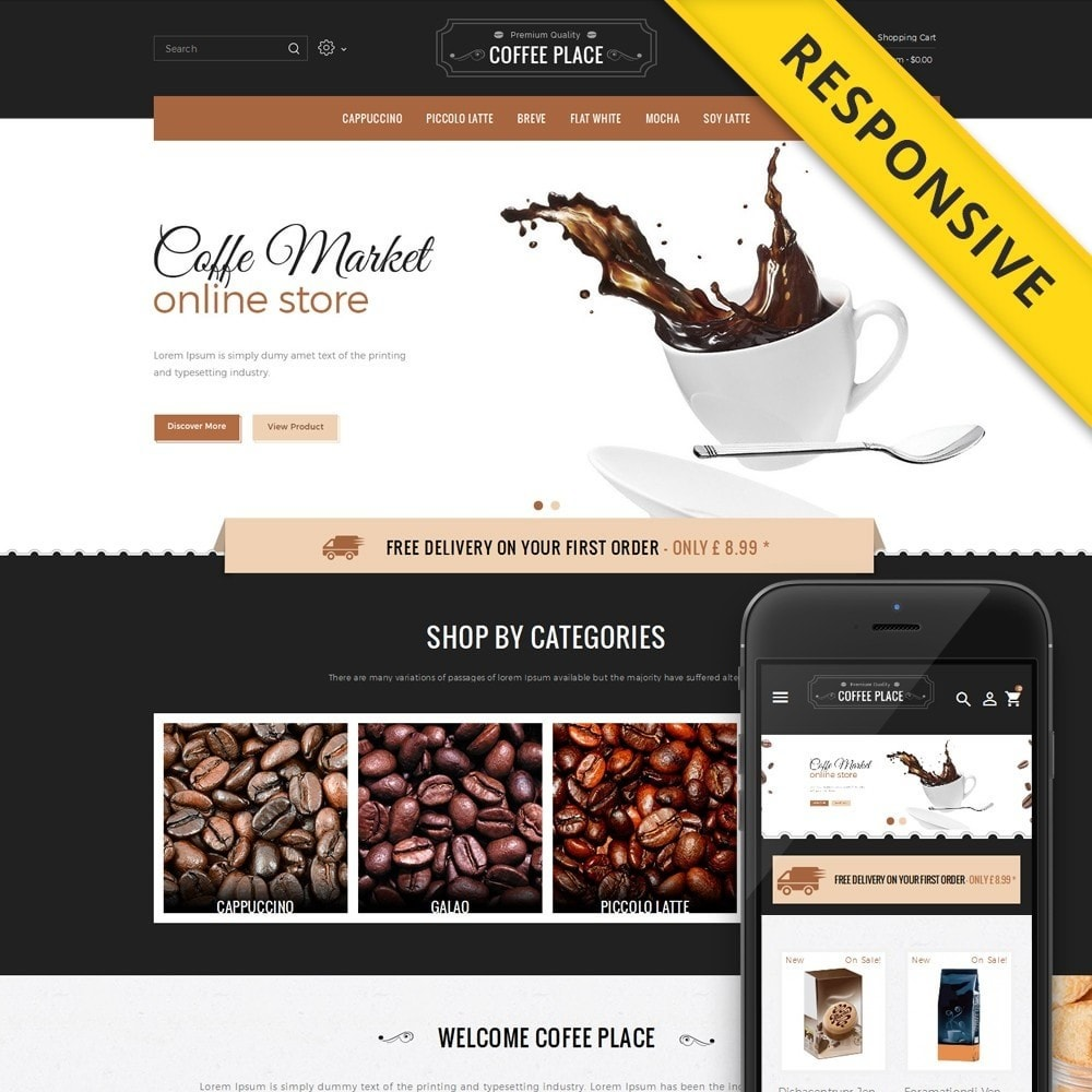 theme - Lebensmittel & Restaurants - Coffee Place Shop - 1