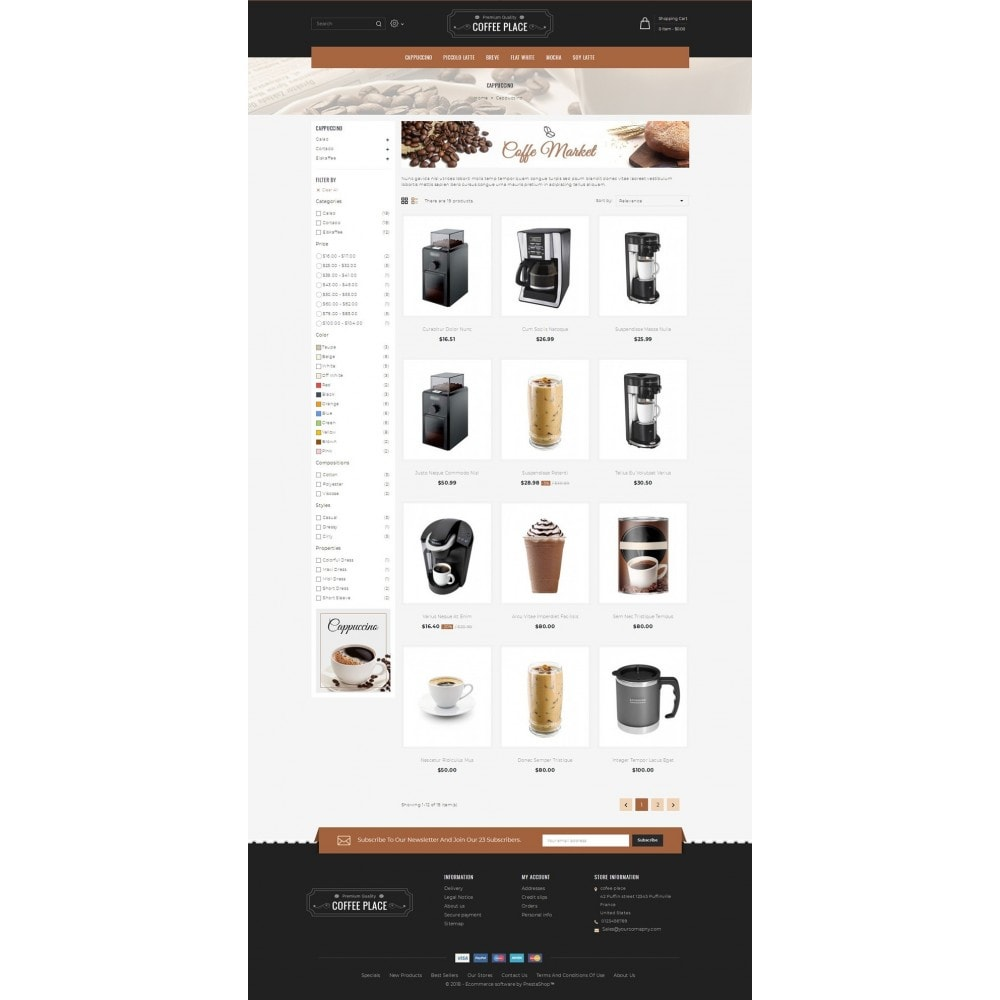 theme - Lebensmittel & Restaurants - Coffee Place Shop - 3