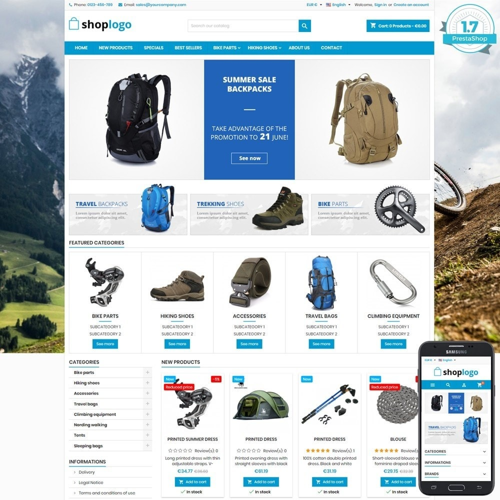theme - Sport, Attività & Viaggi - P17AT03 Bikes, sport and travel store - 1