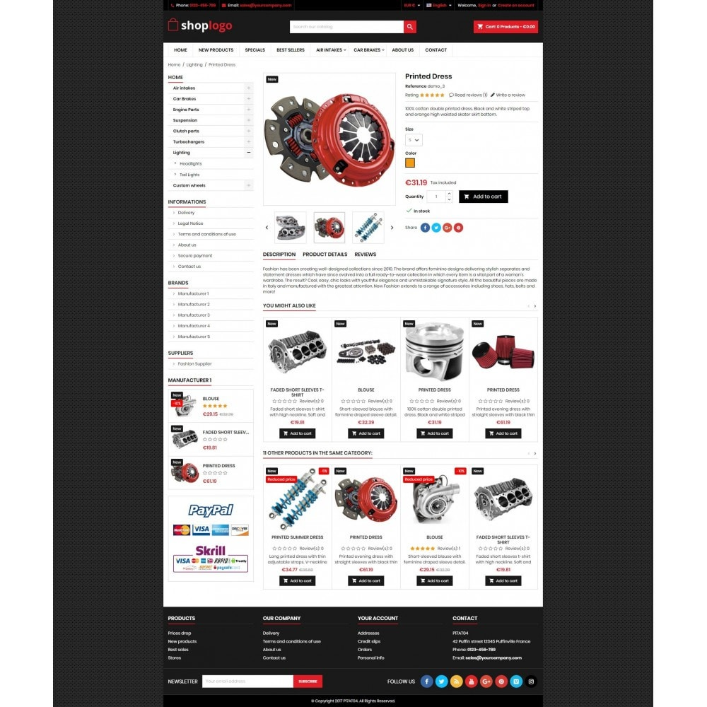 theme - Coches y Motos - P17AT04 Car spare parts - 4