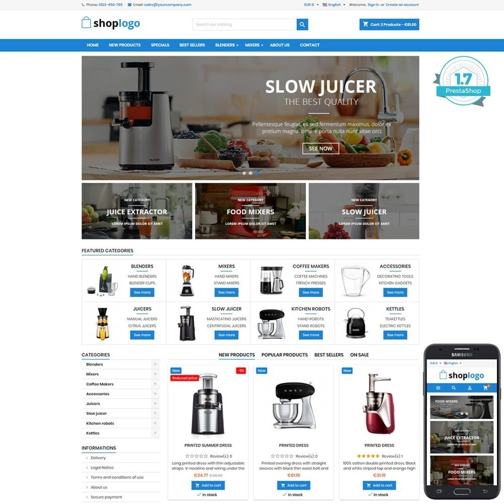 theme - Hogar y Jardín - P17AT09 Kitchen accessories, Juicers, Mixers - 1