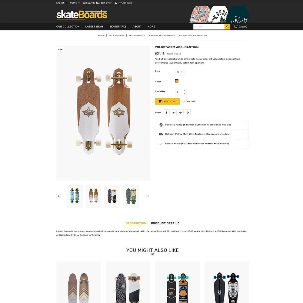 theme - Sports, Activities & Travel - Skateboard Sport Store - 6