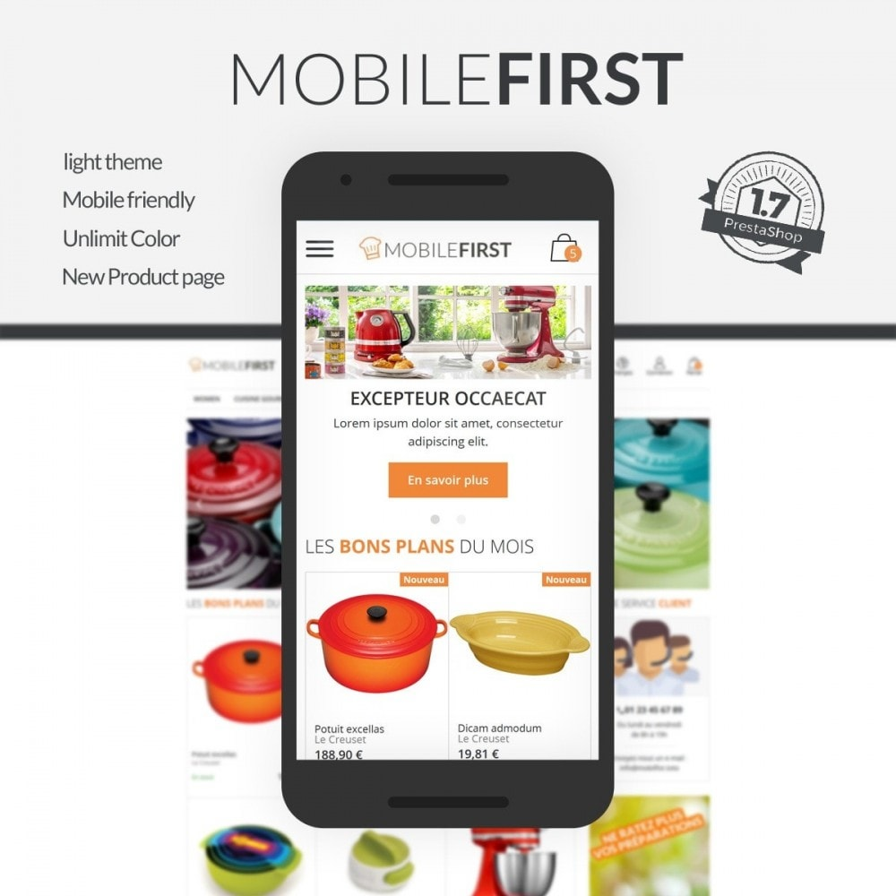 theme - Food & Restaurant - Mobilefirst - 1