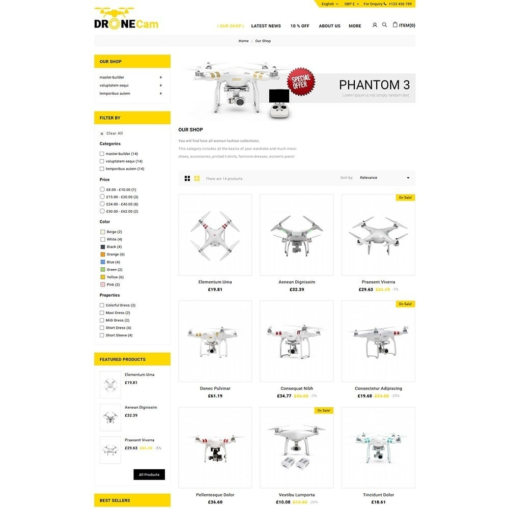theme - Eletrônicos & High Tech - DroneCam Camera Store - 4