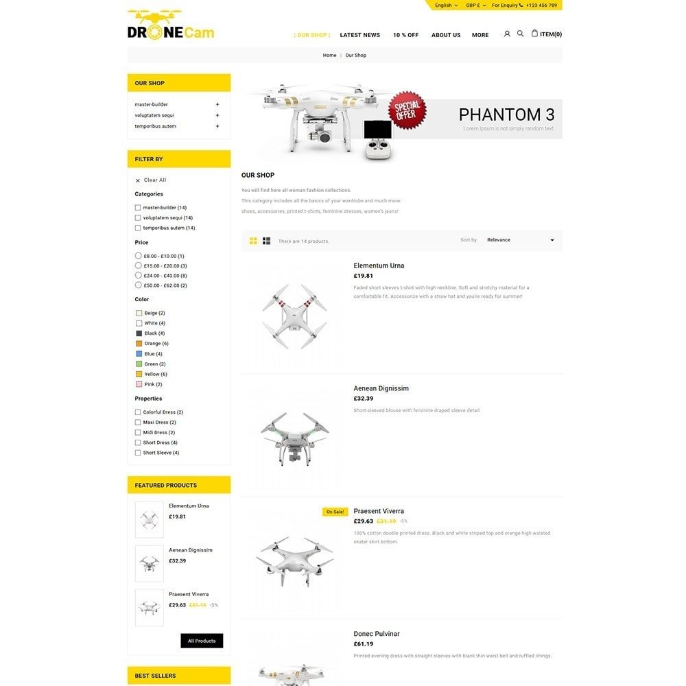 theme - Elettronica & High Tech - DroneCam Camera Store - 5