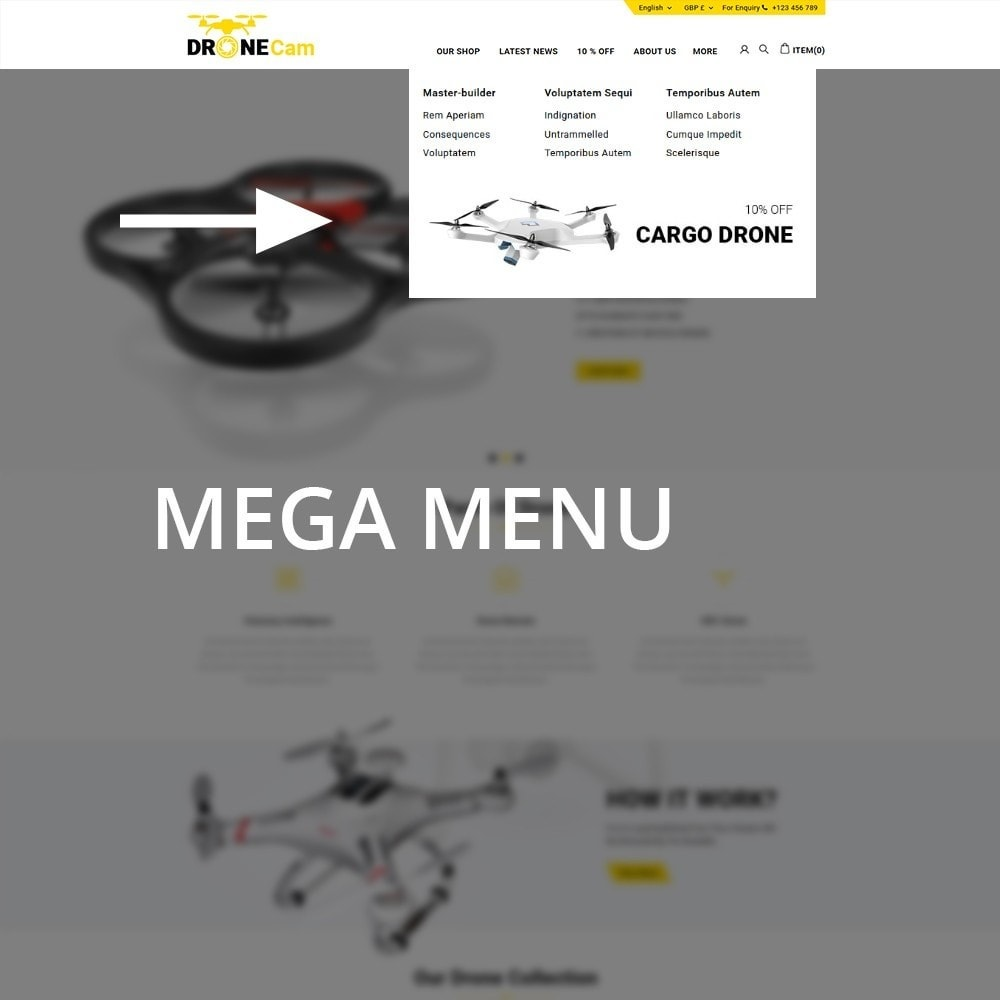 theme - Eletrônicos & High Tech - DroneCam Camera Store - 9