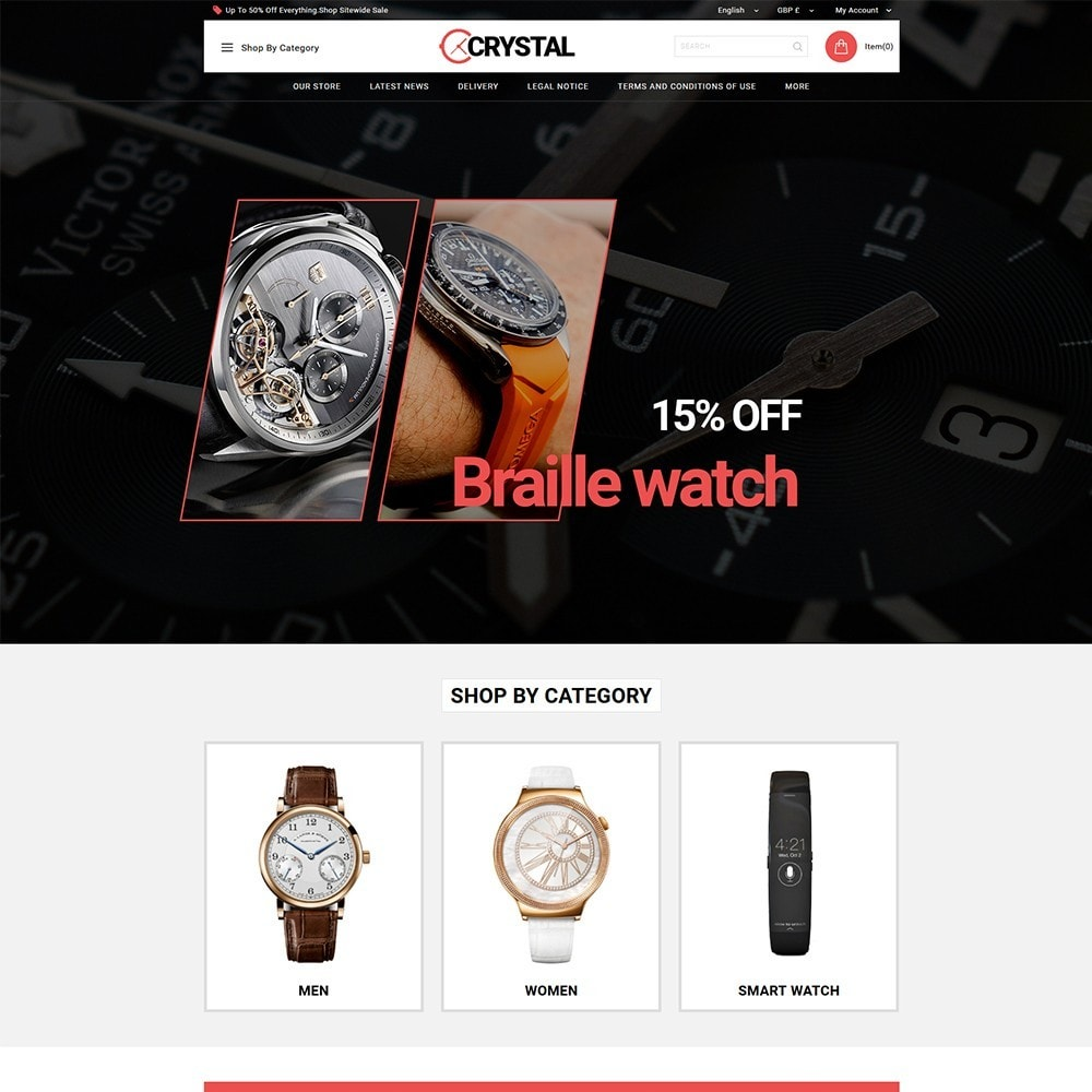 theme - Elektronika & High Tech - Crystal Watch Store - 2