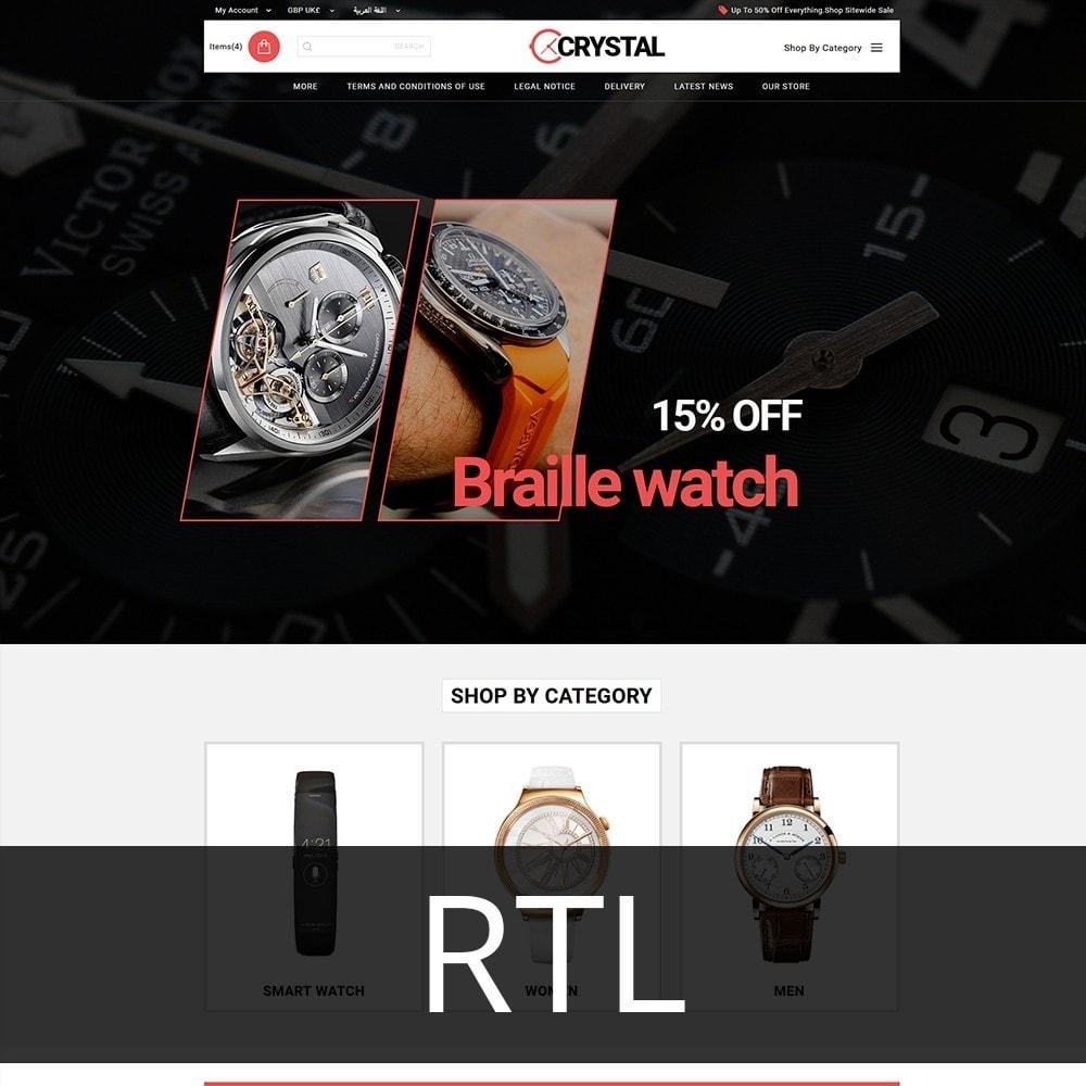 theme - Elektronika & High Tech - Crystal Watch Store - 3