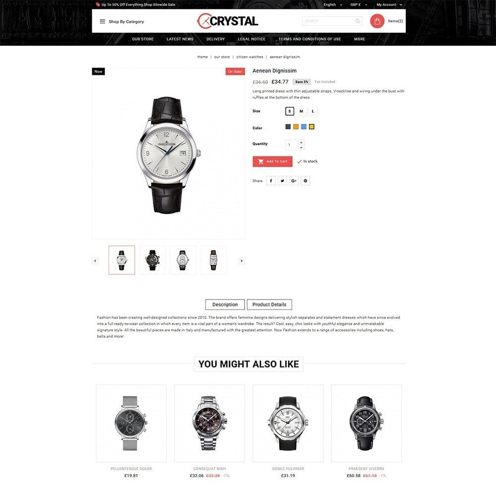 theme - Elektronika & High Tech - Crystal Watch Store - 6