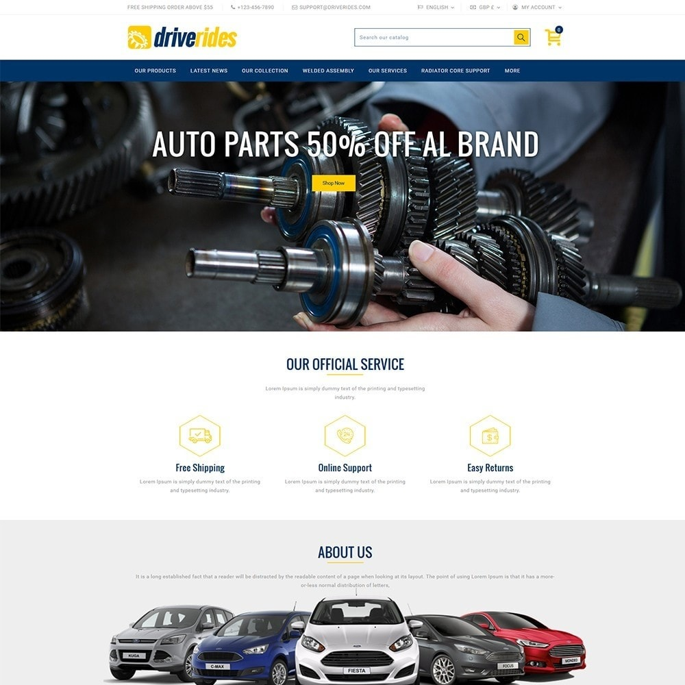 theme - Automotive & Cars - Driverides Motor Shop - 2