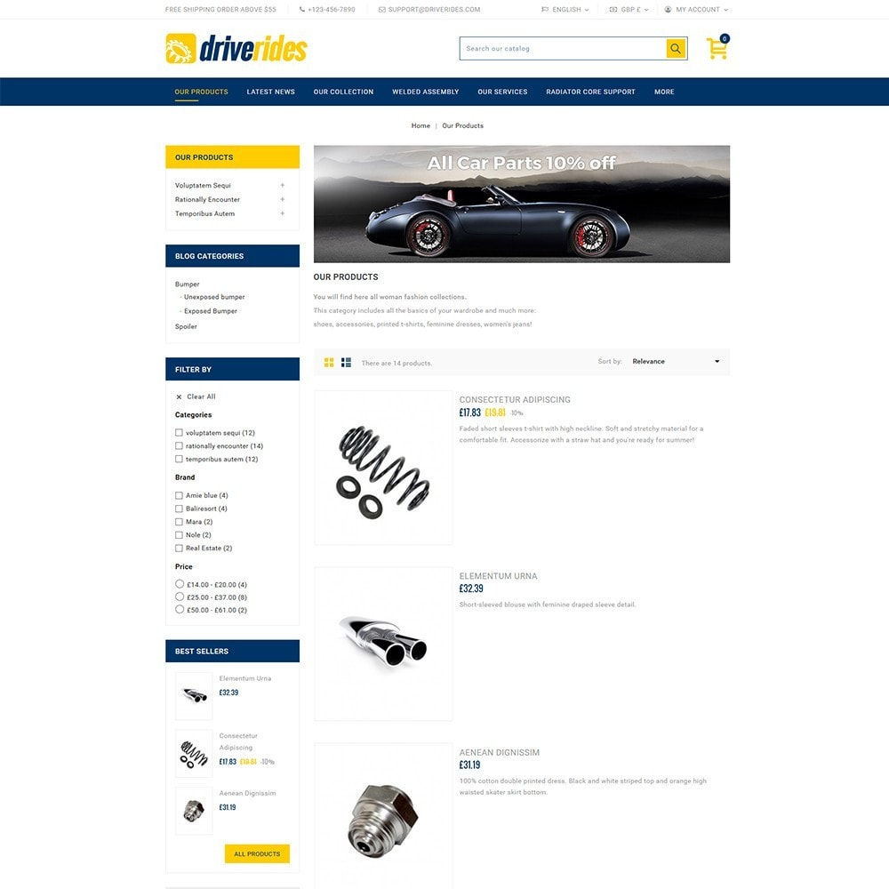 theme - Automotive & Cars - Driverides Motor Shop - 4