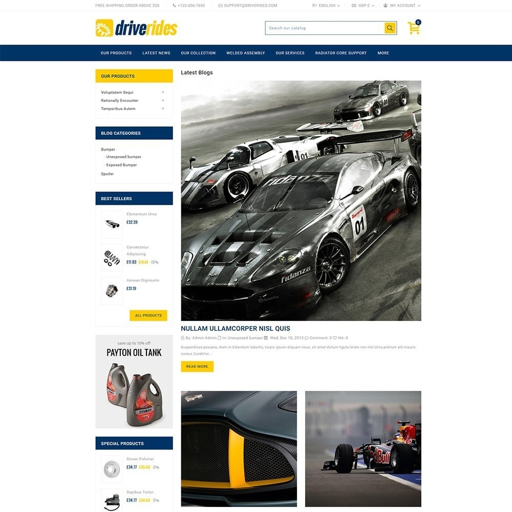 theme - Automotive & Cars - Driverides Motor Shop - 6