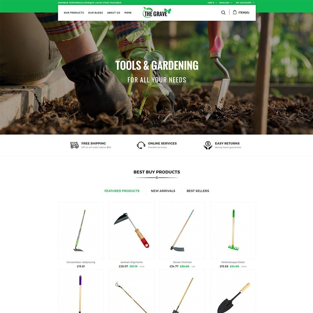 theme - Casa & Jardins - The Grave Gardening Tools - 2