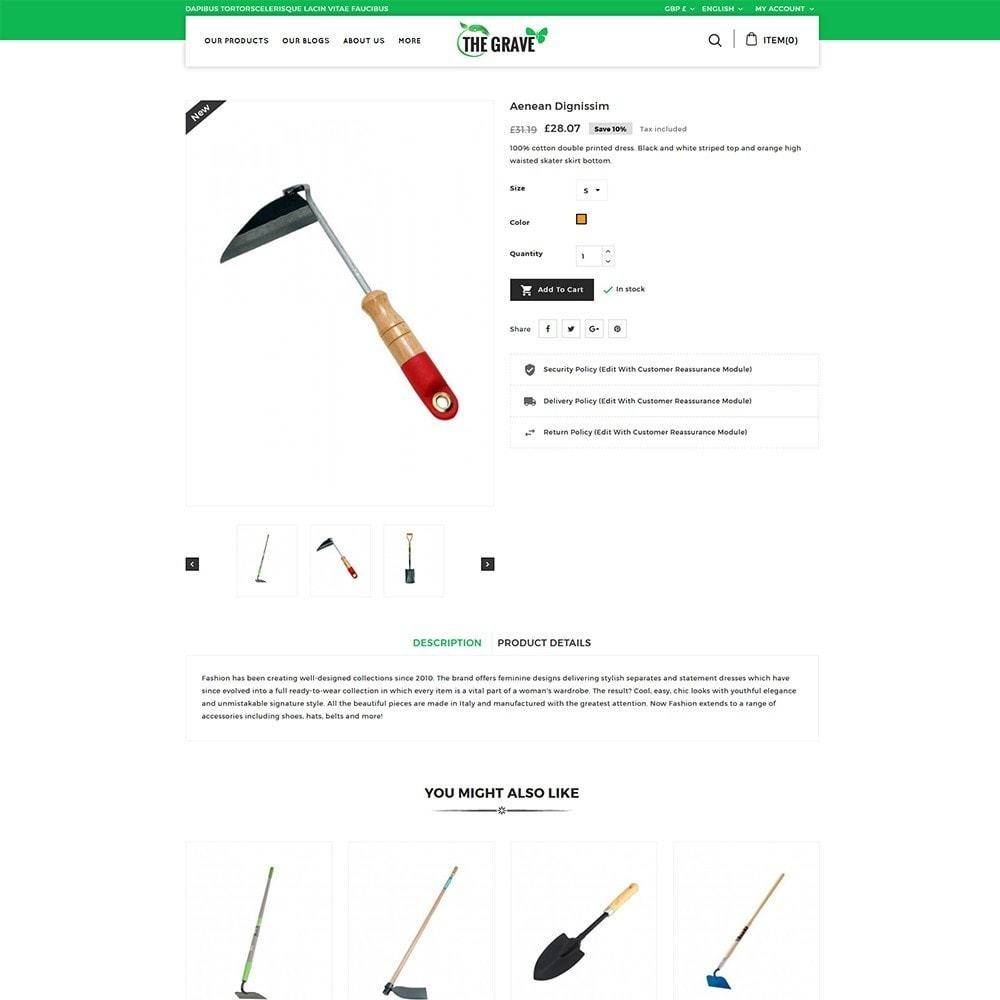 theme - Dom & Ogród - The Grave Gardening Tools - 6