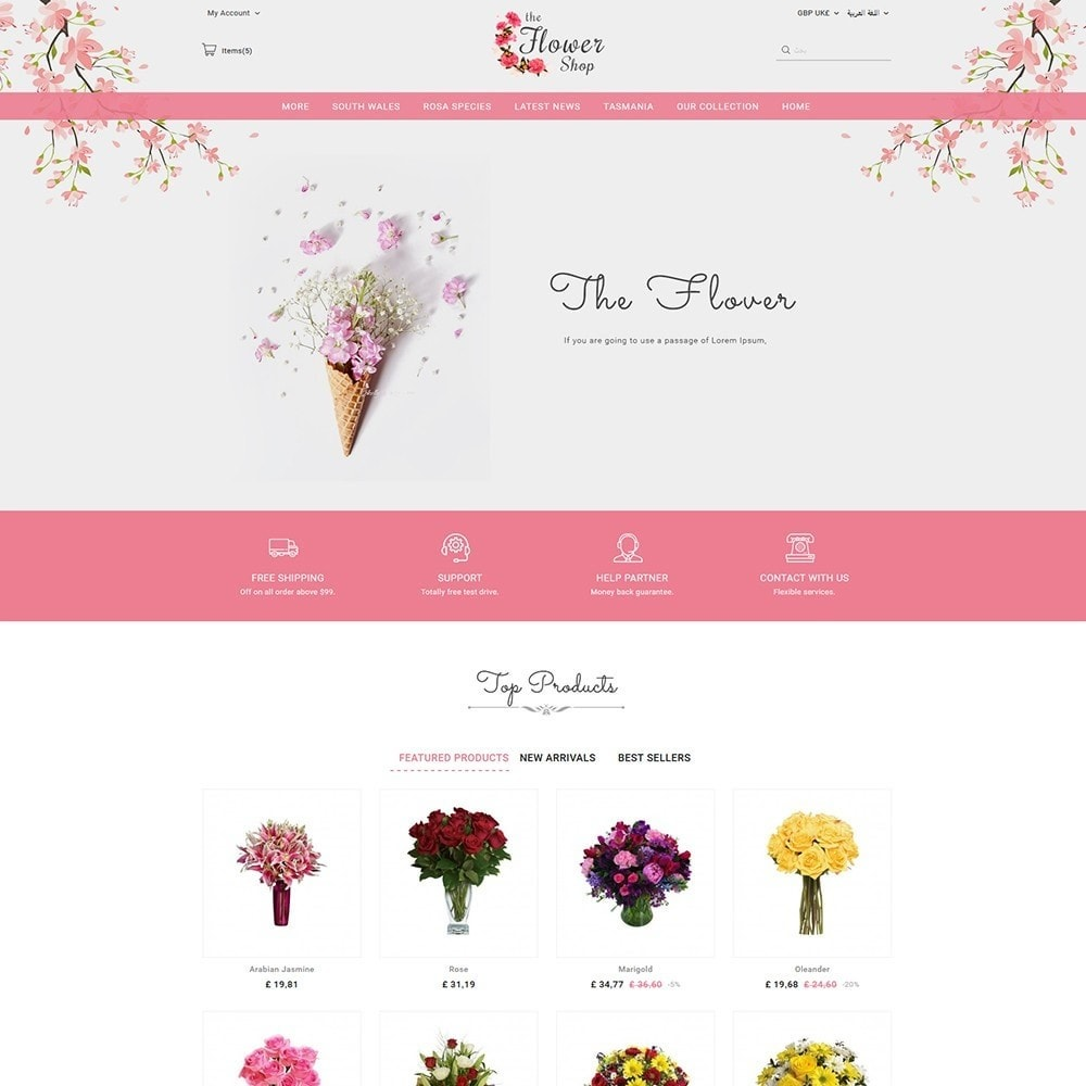 theme - Regali, Fiori & Feste - The Flower Shop - 3