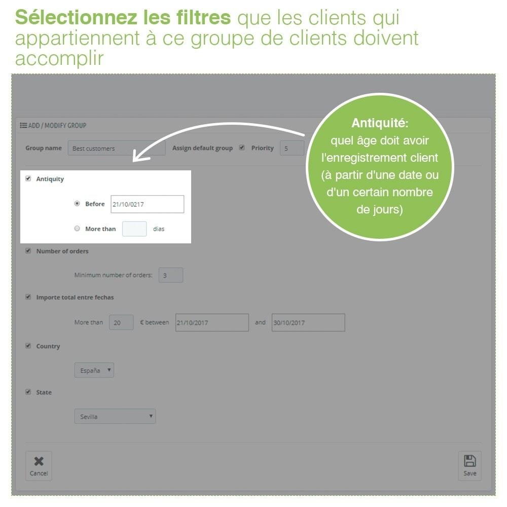 module - Gestion des clients - Gestion Avancée et Massive des groupes de clients - 3