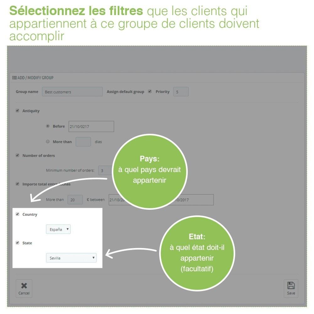 module - Gestion des clients - Gestion Avancée et Massive des groupes de clients - 6