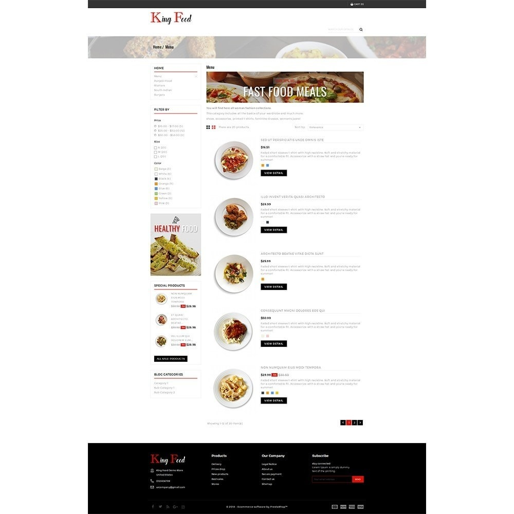 theme - Food & Restaurant - King Food Store - 4