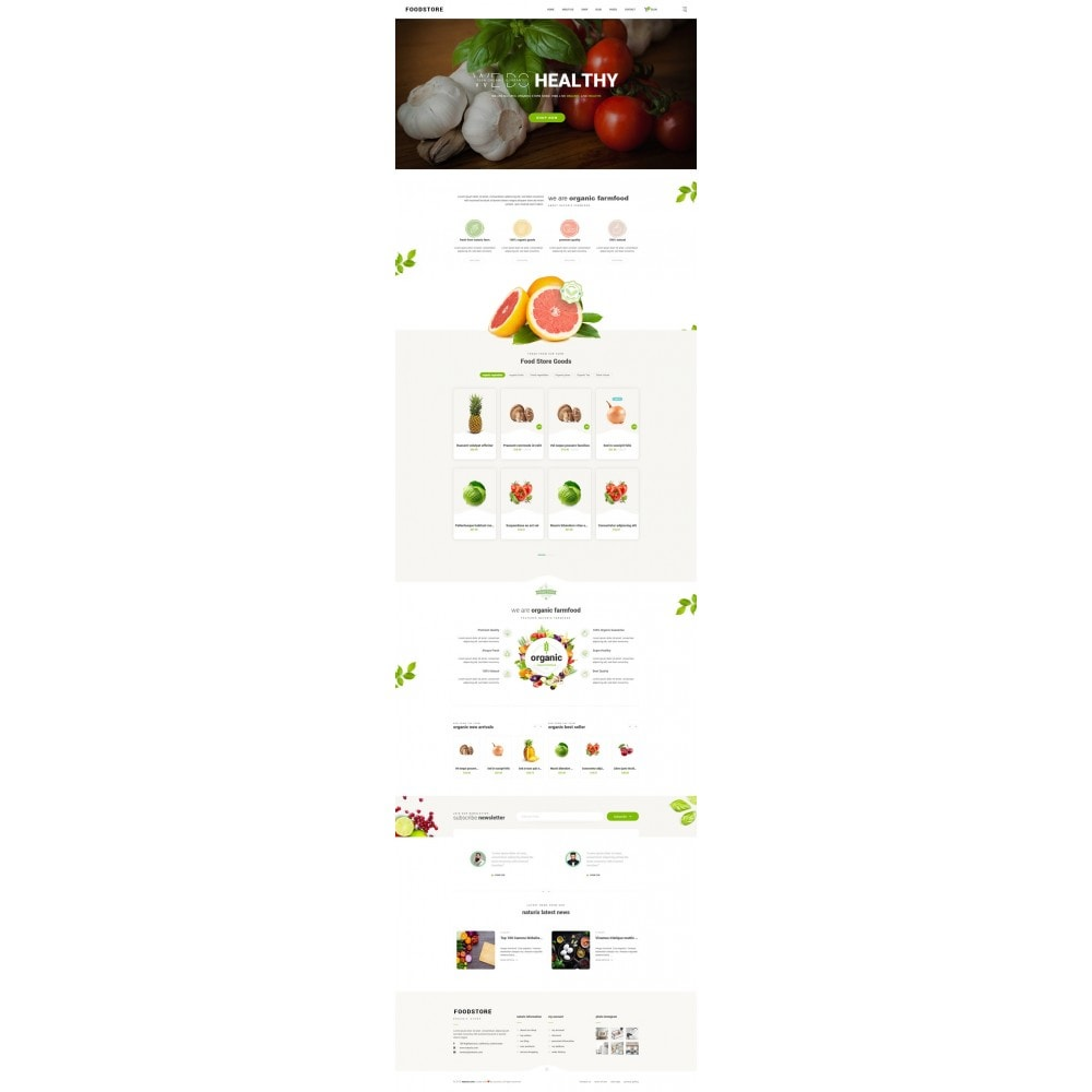 theme - Alimentos & Restaurantes - FoodStore II - 7