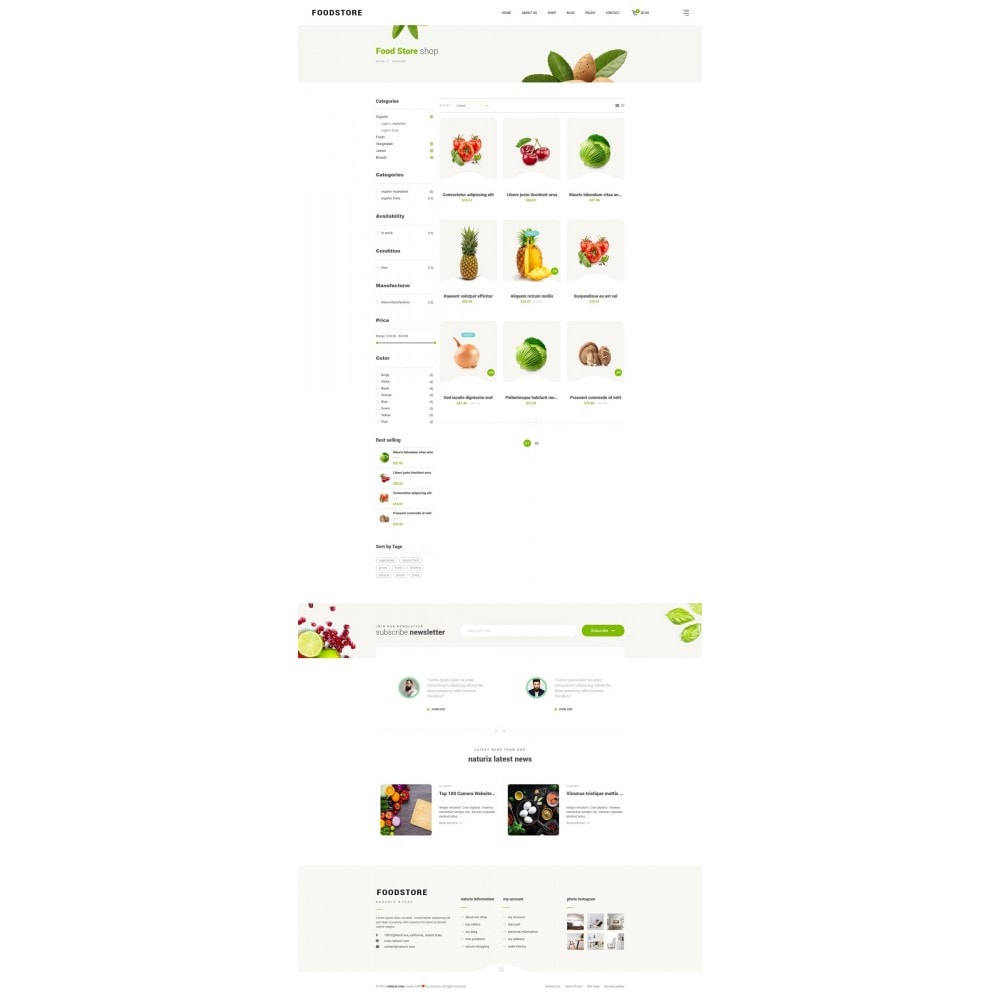 theme - Lebensmittel & Restaurants - FoodStore II - 8