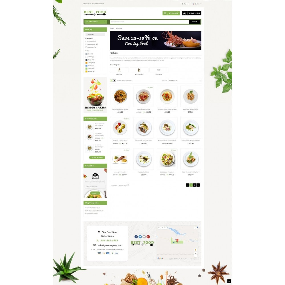 theme - Продовольствие и рестораны - Best Food Store - 3