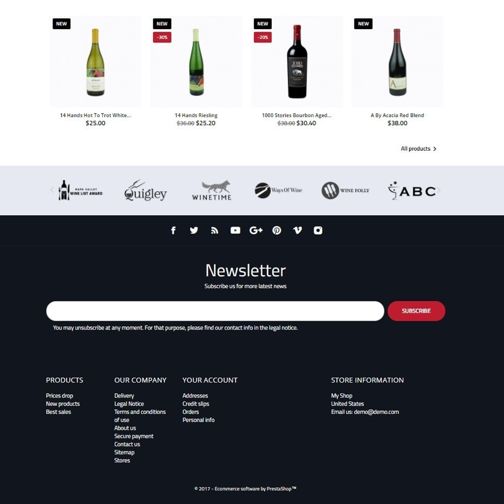 theme - Напитки и с сигареты - World Wine Shop - 4
