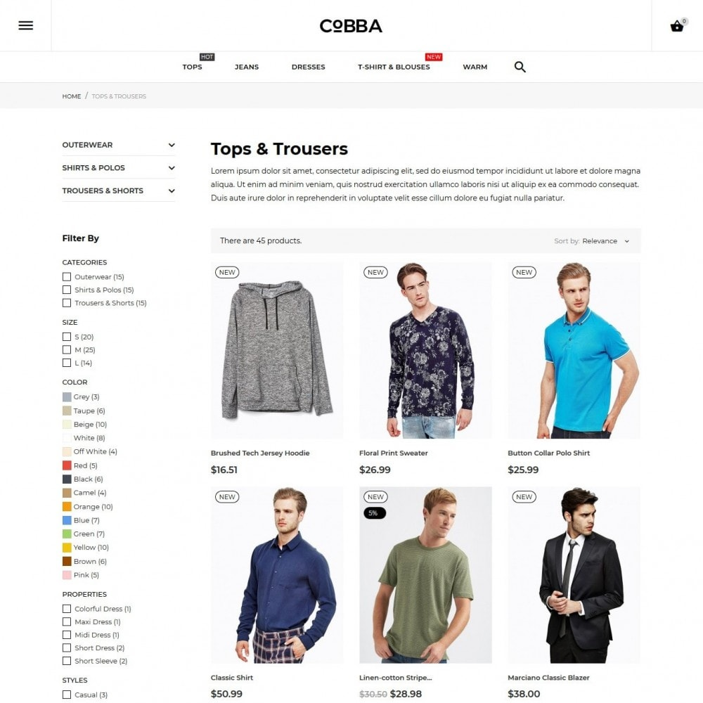 theme - Fashion & Shoes - Cobba Men's Wear - 6