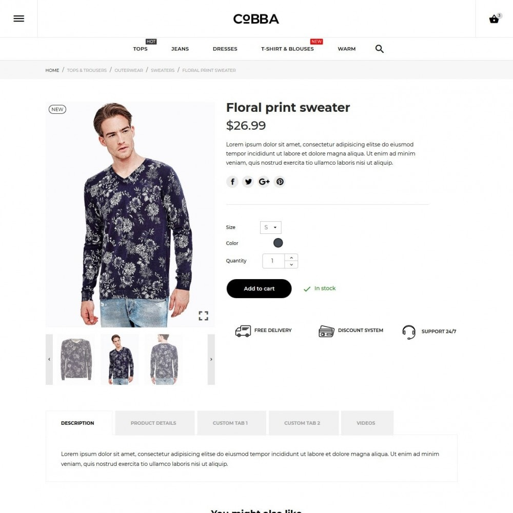 theme - Fashion & Shoes - Cobba Men's Wear - 9