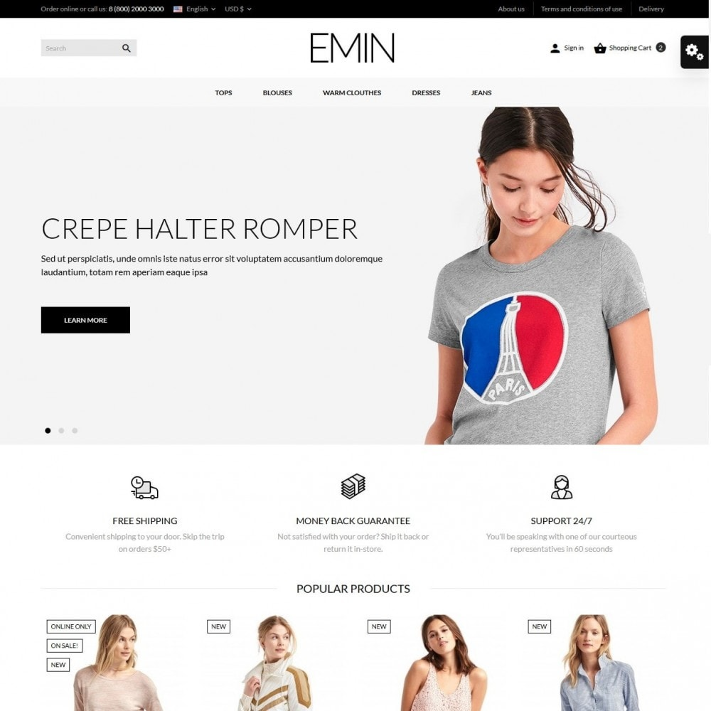 theme - Fashion & Shoes - Emin Fashion Store - 2