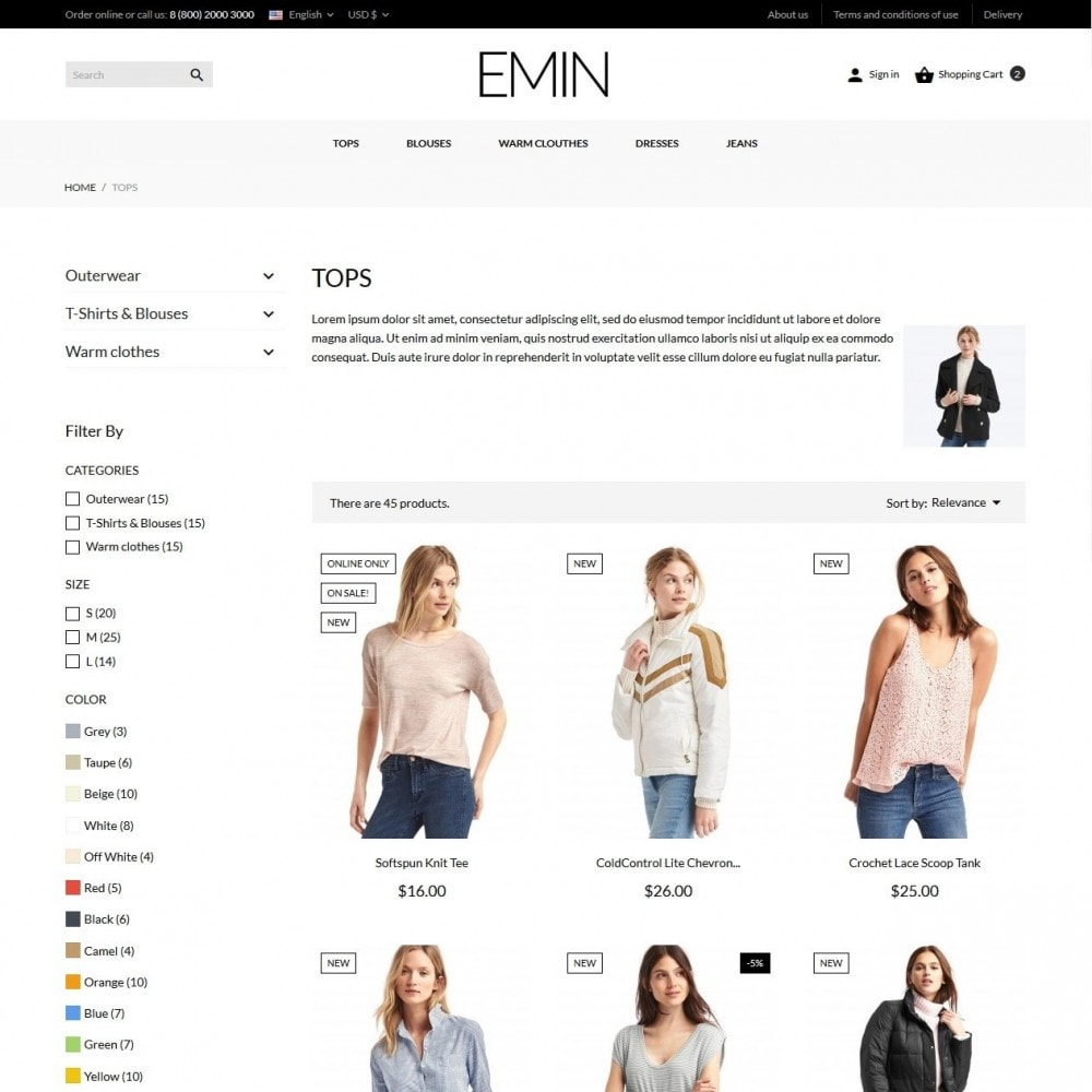 theme - Mode & Chaussures - Emin Fashion Store - 6
